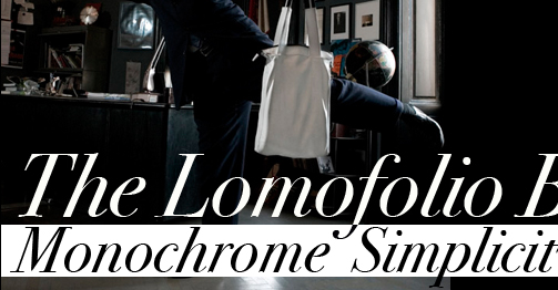 The Lomofolio Bag - Monochrome Simplicity