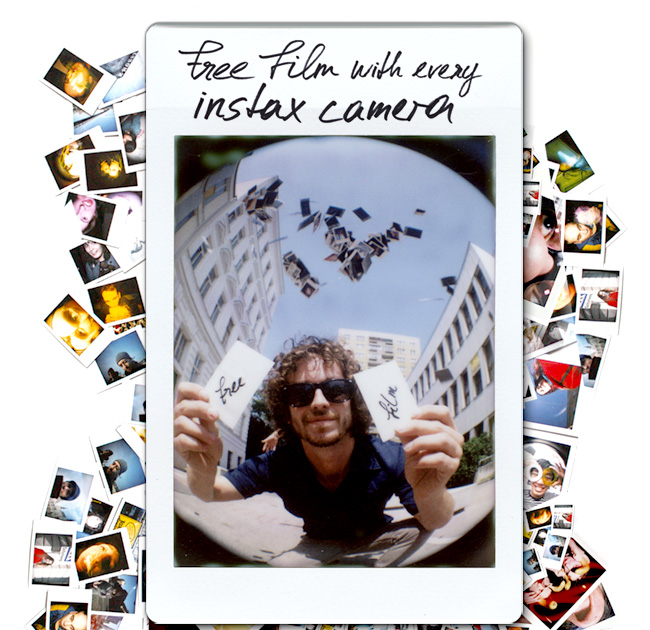 free film with every instax camera