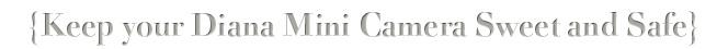 --> Keep your Diana Mini Camera Sweet and Safe