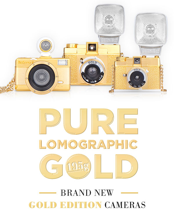 BRAND NEW  GOLD EDITION CAMERAS | PURE LOMOGRAPHIC GOLD