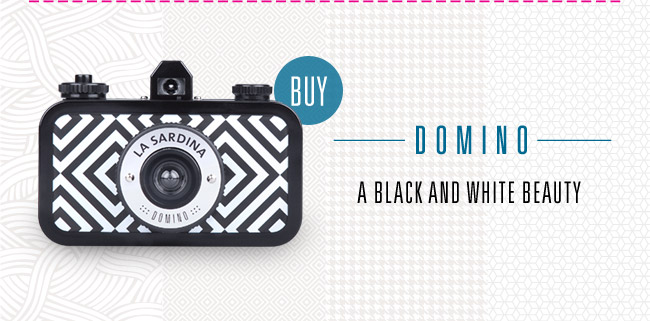 Domino - The lovable 35mm camera dressed in elegant black and white